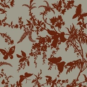 Florence Broadhurst Tropical Floral, Crimson