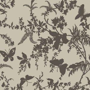 Florence Broadhurst Tropical Floral, Mink
