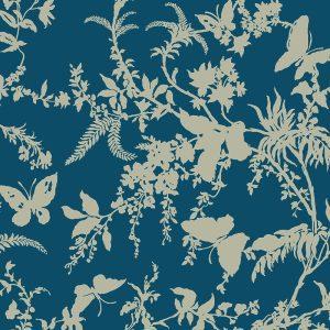 Florence Broadhurst Tropical Floral, Regal Blue