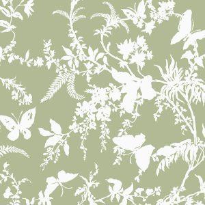 Florence Broadhurst Tropical Floral, Sage
