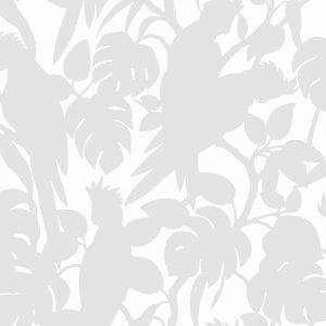 Florence Broadhurst Cockatoos, Silver