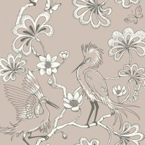 Florence Broadhurst Egrets, Macadamia