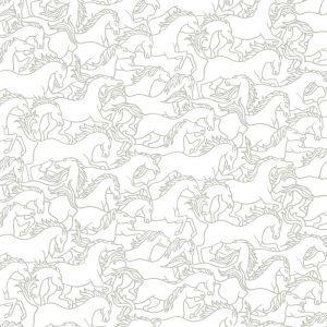 Florence Broadhurst Horses Stampede, Crystal