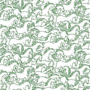 Florence Broadhurst Horses Stampede, Ferntree
