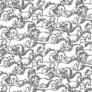 Florence Broadhurst Horses Stampede, Magpie