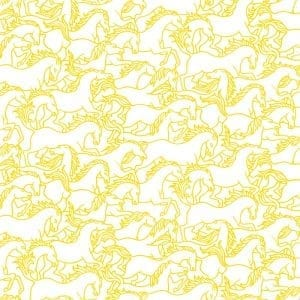 Florence Broadhurst Horses Stampede, Wattle