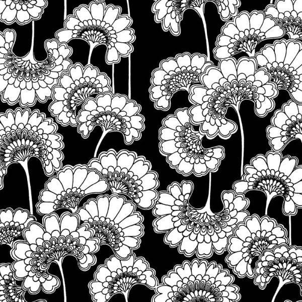 Florence Broadhurst Japanese Floral, Soot