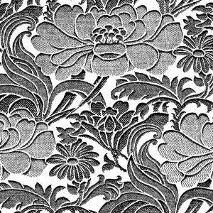 Florence Broadhurst Tudor Floral, Magpie