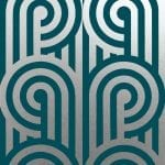 Turnabouts Mermaid Satin Silver, Florence Broadhurst wallpaper