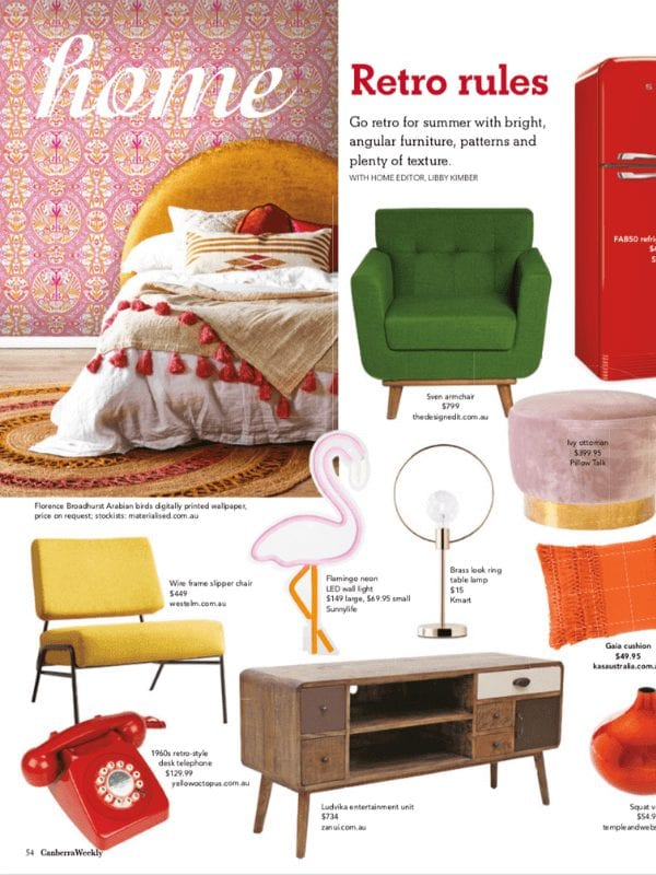 Canberra Weekly, Florence Broadhurst wallpaper