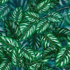 Monstera fabric design, Typoflora, Materialised