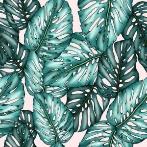 Monstera Plain fabric, textiles, Typoflora, Materialised