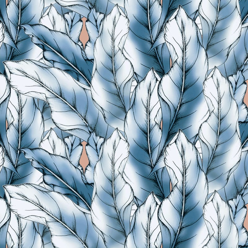 Typoflora banana leaf print