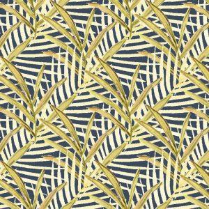 Sara Berrenson Foliage textile and wall covering, Navy