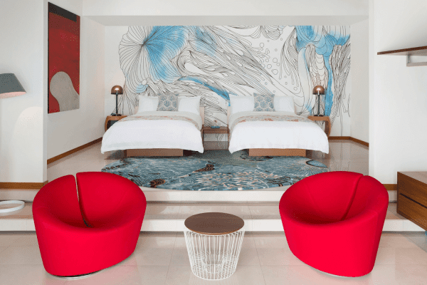 W Resort & Spa, hotel wall covering