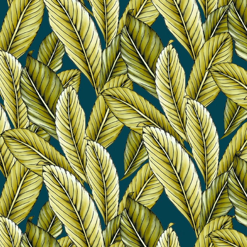 Typoflora tropical leaves, textiles and wall covering