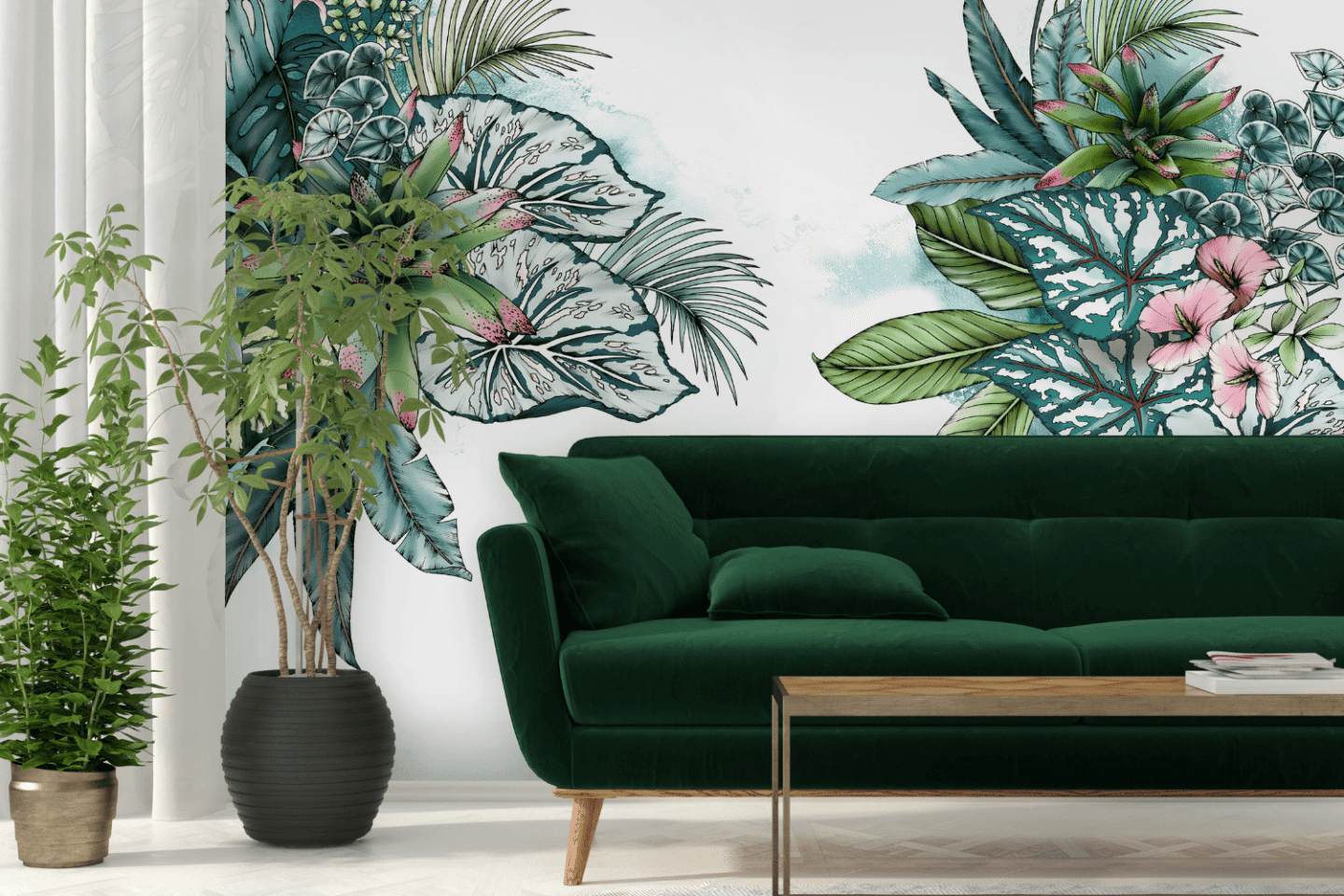 Typoflora wall covering