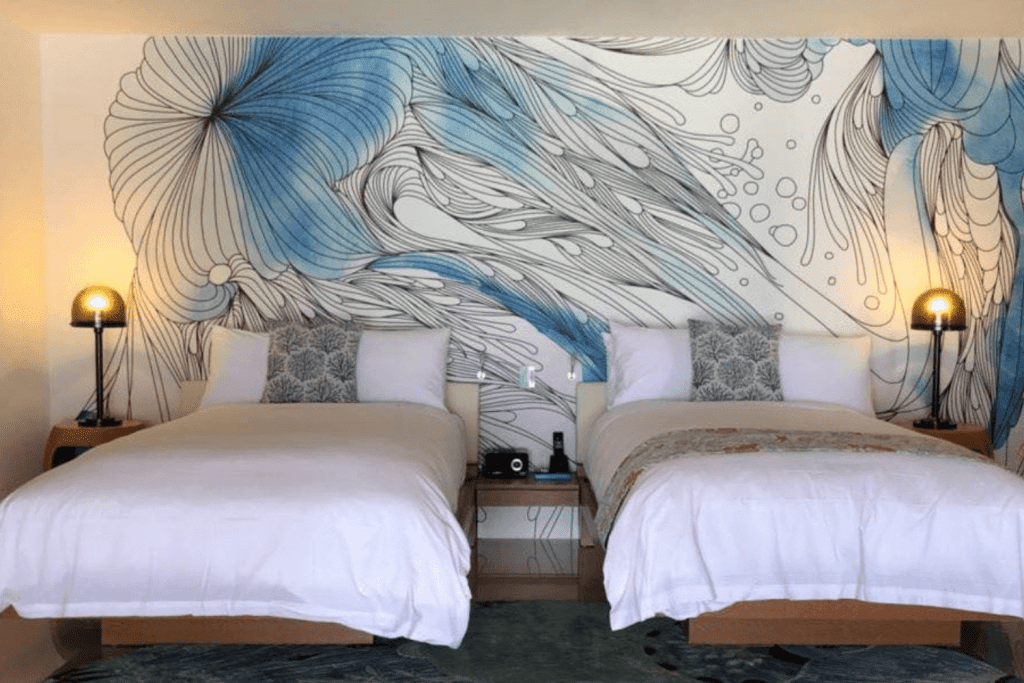 W Maldives, custom wall covering, Materialised