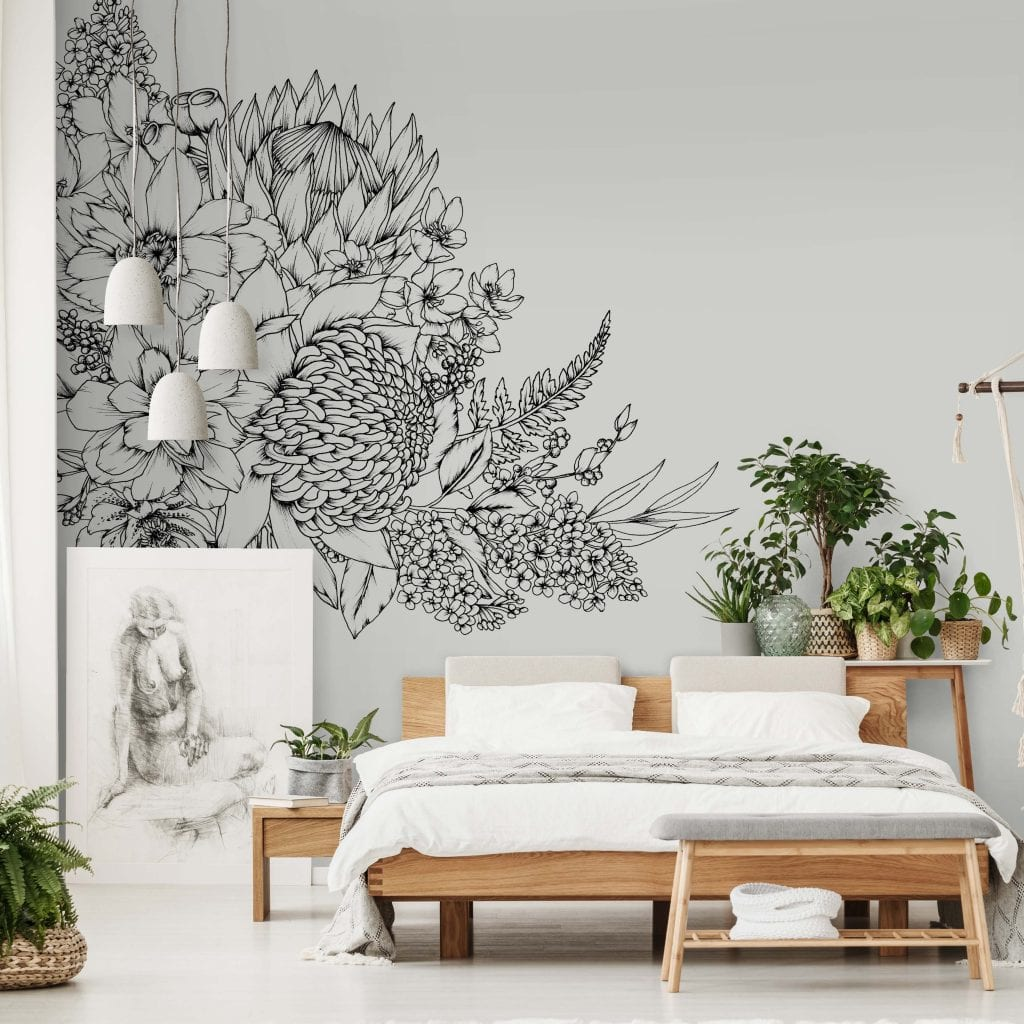 Bush Garden Wall Mural, Typoflora for Materialised