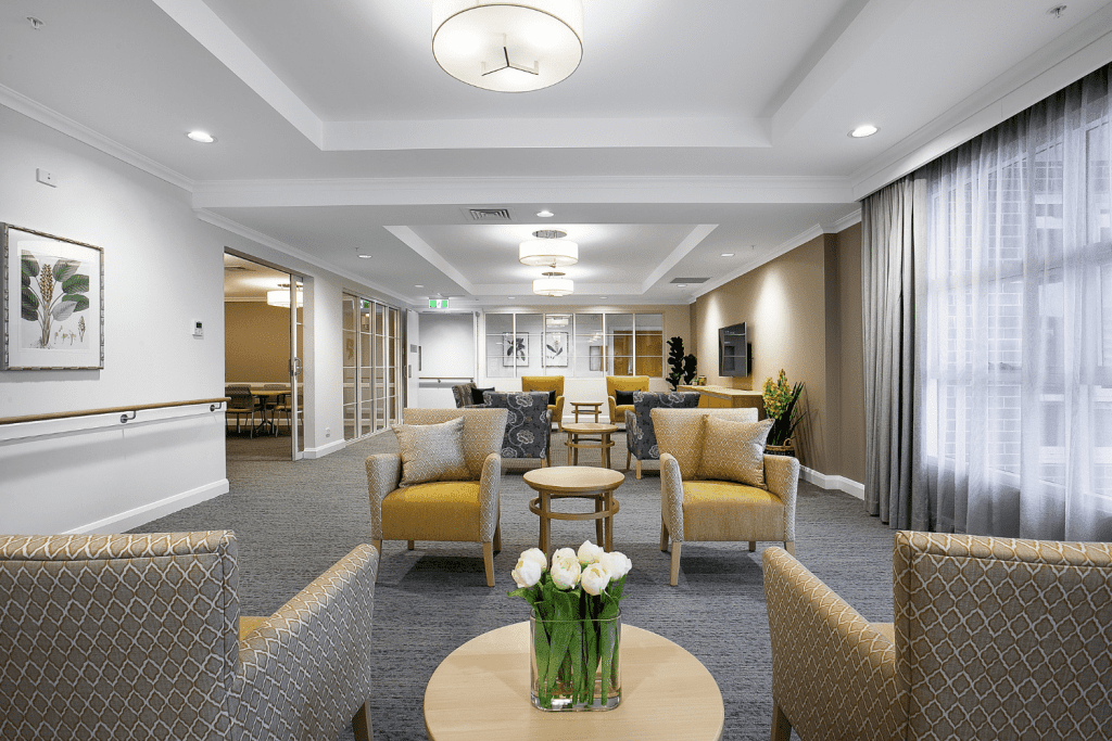 Bill's Place, aged care design, commercial fabrics