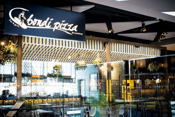 Bondi Pizza custom awning fabric