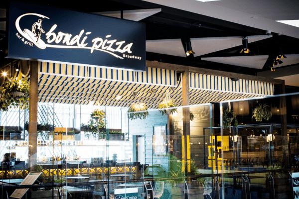 Bondi Pizza custom awning fabric