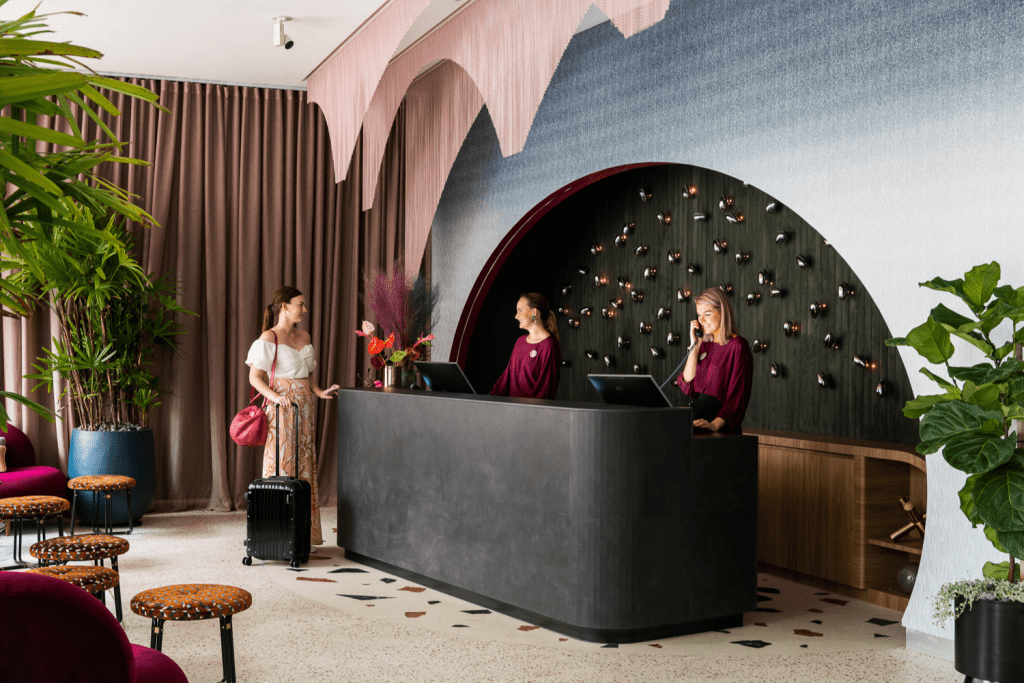 Ovolo The Valley lobby wall vinyl