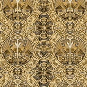 Florence Broadhurst Arabian Birds, Gold