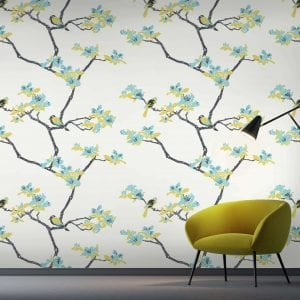 Azalea, Waterfront, Florence Broadhurst wallpaper