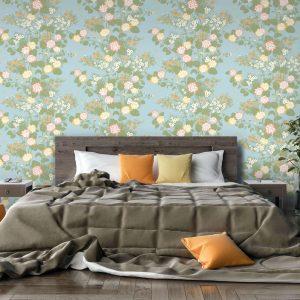 Chinese Floral, Botany, Florence Broadhurst wallpaper