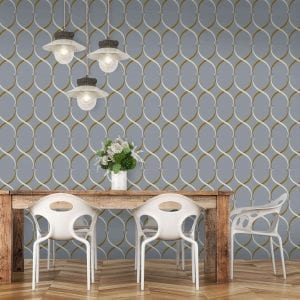 Crossover Lattice, Mauve, Florence Broadhurst wallpaper