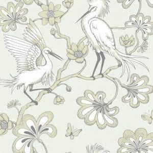 Florence Broadhurst wallpaper, Egrets FB1448 - American Edit
