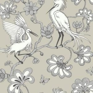 Florence Broadhurst wallpaper, Egrets FB1449 - American Edit