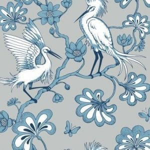 Florence Broadhurst wallpaper, Egrets FB1450 - American Edit
