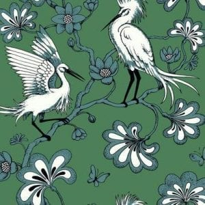 Florence Broadhurst wallpaper, Egrets FB1451 - American Edit