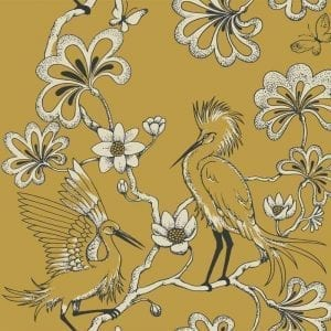 Florence Broadhurst Egrets, Gold