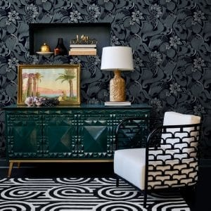 Florence Broadhurst Aubrey wallpaper, Fb1420