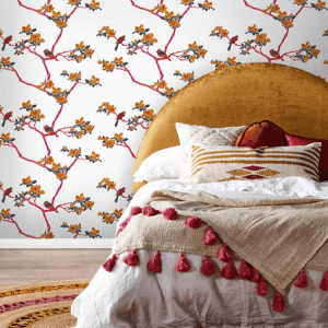 Florence Broadhurst wallpaper by Materialised, Azalea