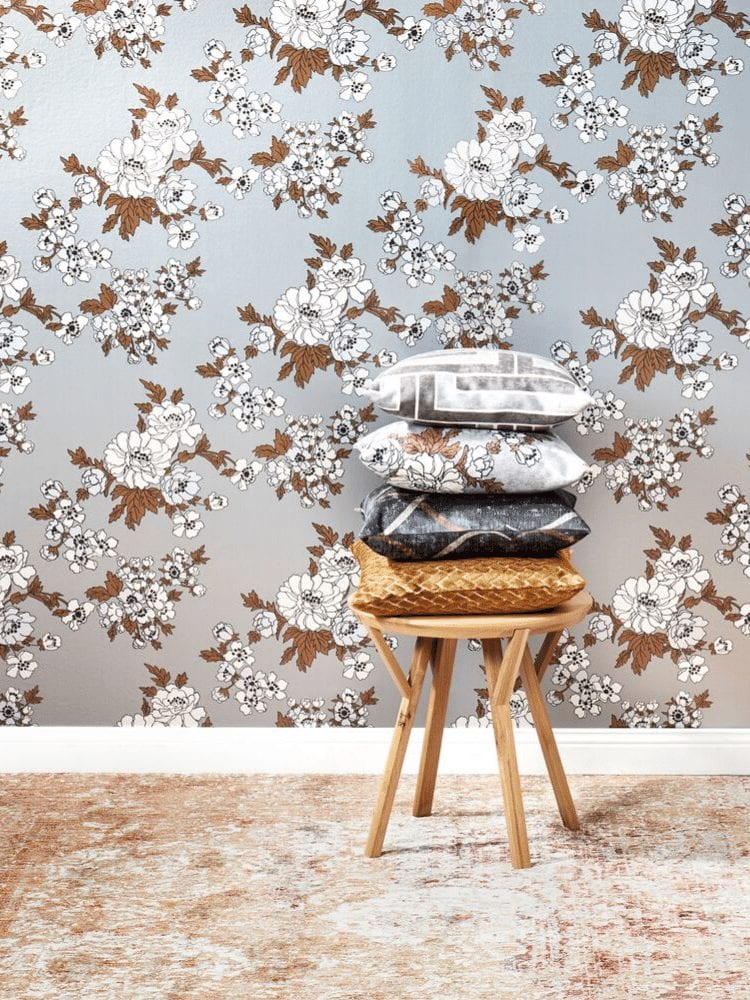 Florence Broadhurst wallpaper by Materialised, Gardenia