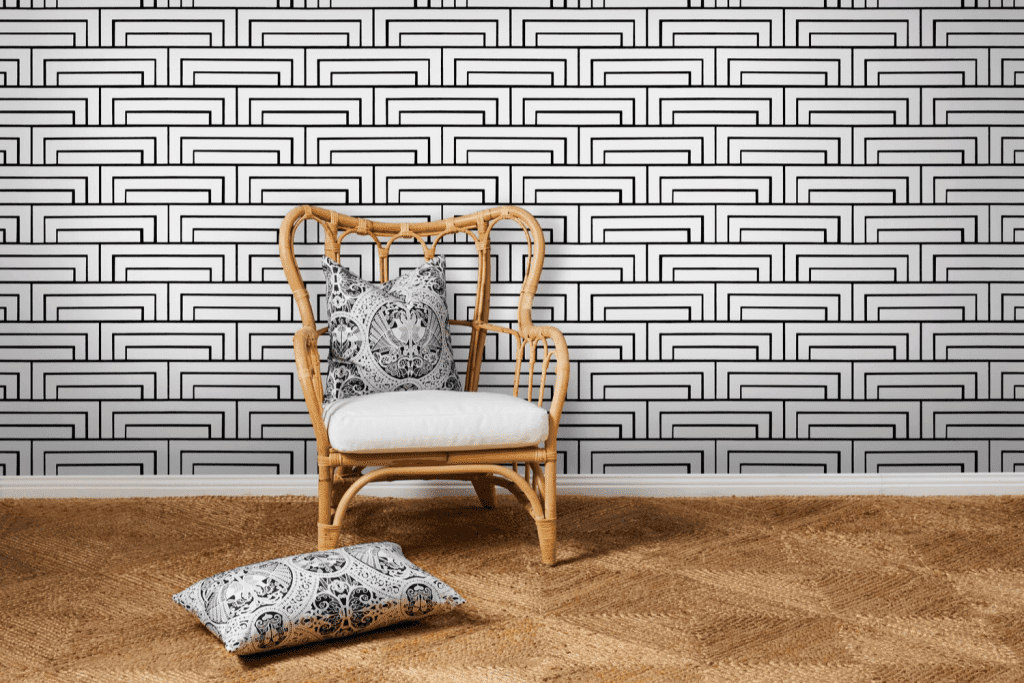 Florence Broadhurst wallpaper by Materialised, Steps