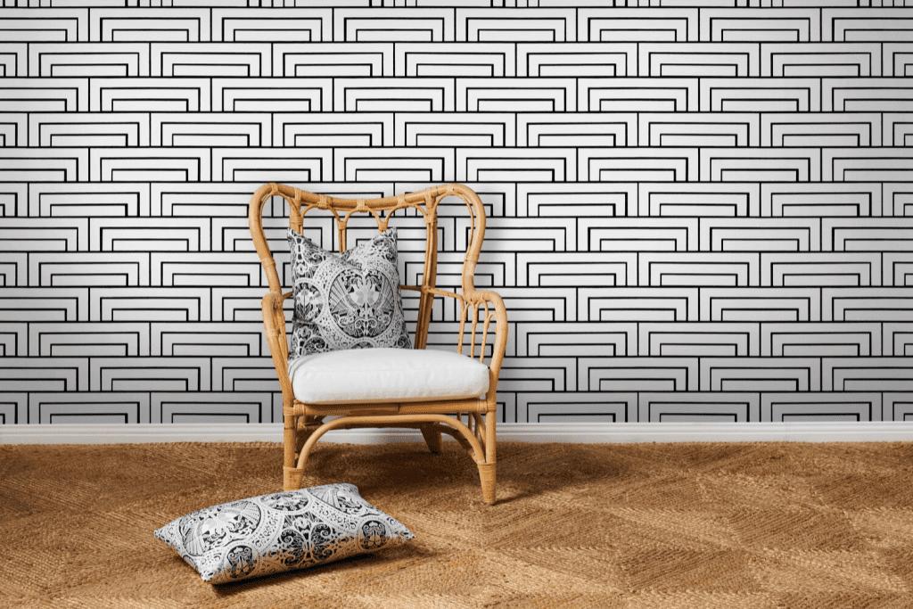 Florence Broadhurst wallpaper by Materialised, Steps
