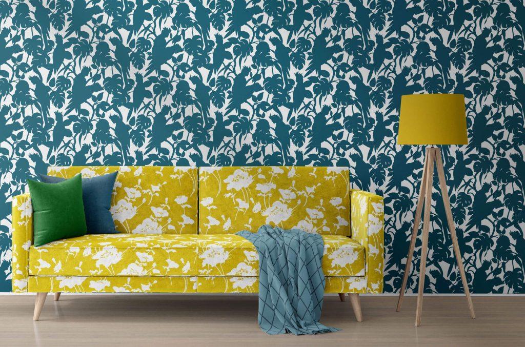 Florence Broadhurst Wallpaper, Cockatoos, Seaside
