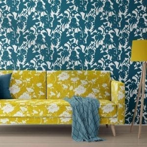 Florence Broadhurst Wallpaper, Cockatoos, Seaside