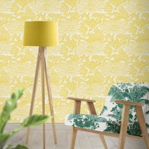 Tudor Floral Sunshine, Florence Broadhurst wallpaper