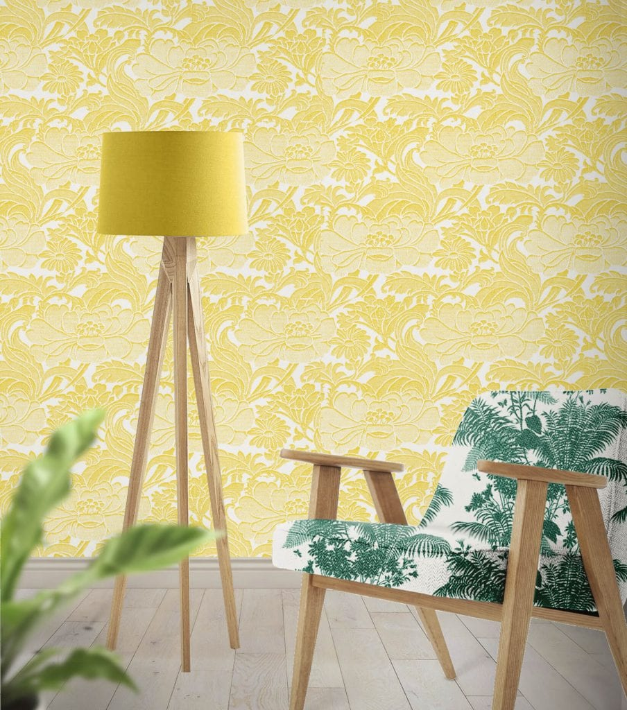 Tudor Floral Sunshine, Florence Broadhurst wallpaper