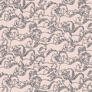 Florence Broadhurst Horses Stampede, Telopea