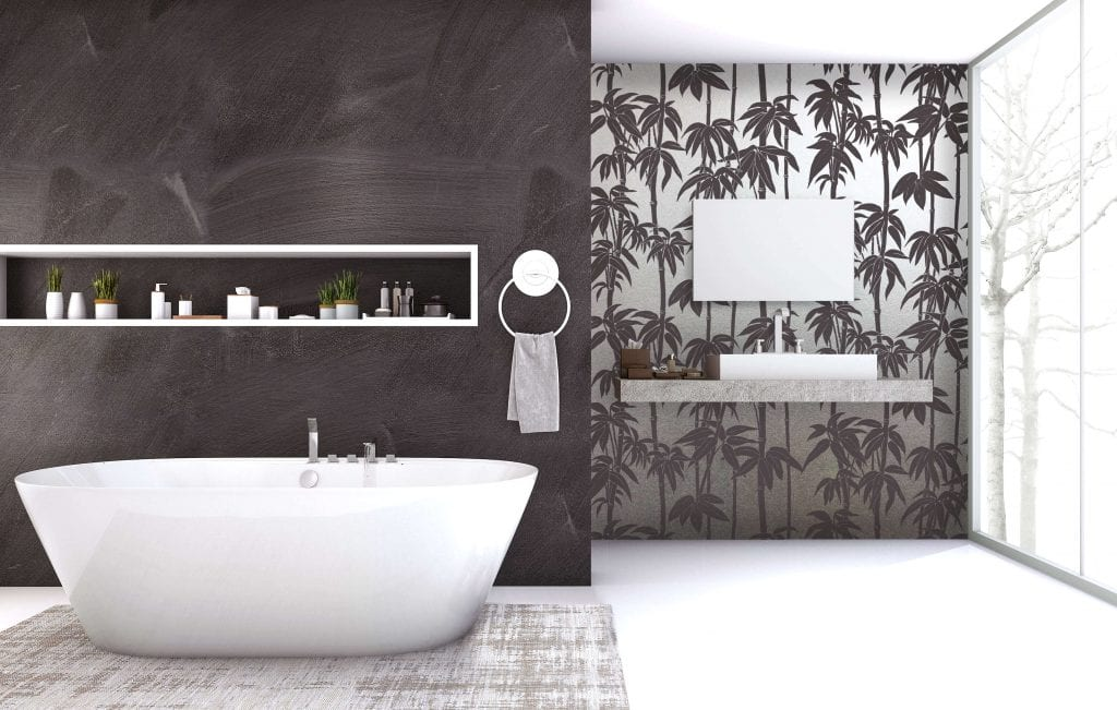 Japanese Bamboo, Iron Bark, Silver , Florence Broadhurst wallpaper