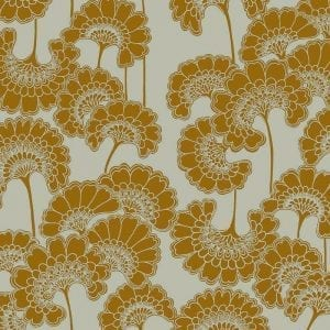 Florence Broadhurst Japanese Floral, Old Gold