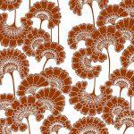 Florence Broadhurst Japanese Floral, Redwood