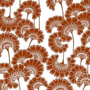 Florence Broadhurst Japanese Floral, Redwood